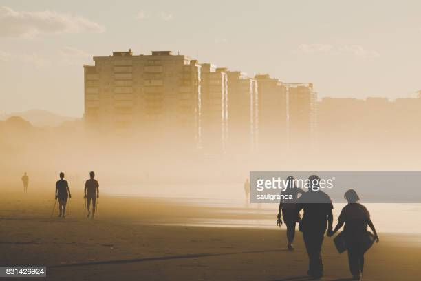 walking in the beach - humid stock pictures, royalty-free photos & images