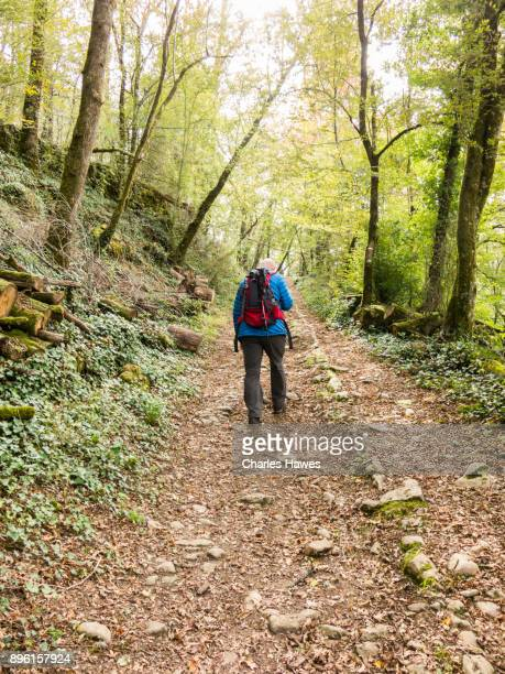 walking in the northern dordogne region of france - autumn winter fashion collection stock pictures, royalty-free photos & images
