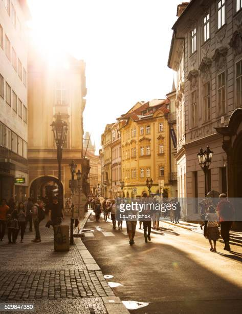 walking in the old town of prague - lauryn ishak stock pictures, royalty-free photos & images