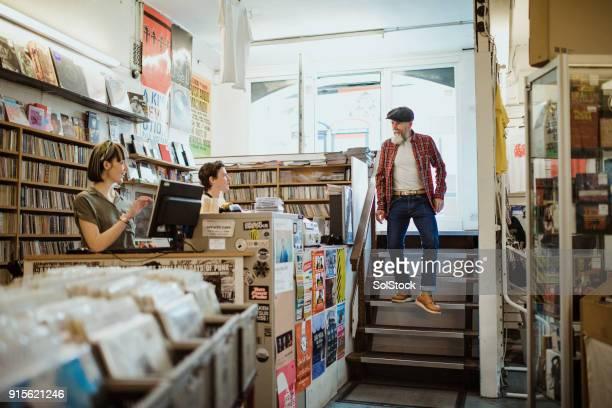 Fuß in einer lokalen Musikladen