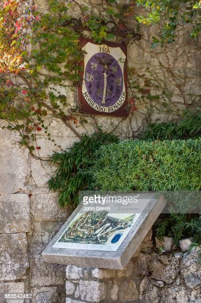 A walking map of the charming art village of Eze