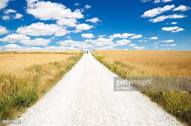 Walking on Camino de Santiago