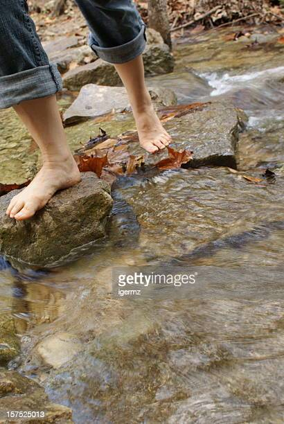 Walking on Stepping Stones in Stream