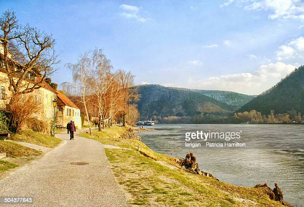 Walking on the banks of the Danube
