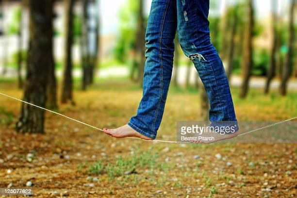 Walking on tightrope