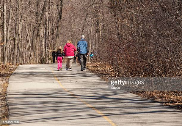 walking outdoors - london ontario stock photos and pictures