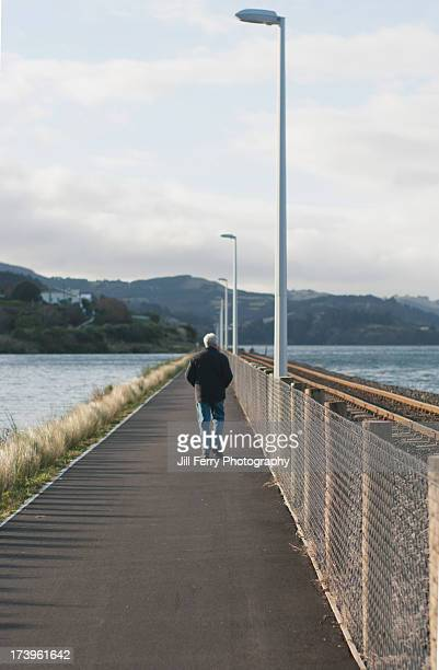 walking - dunedin new zealand stock pictures, royalty-free photos & images