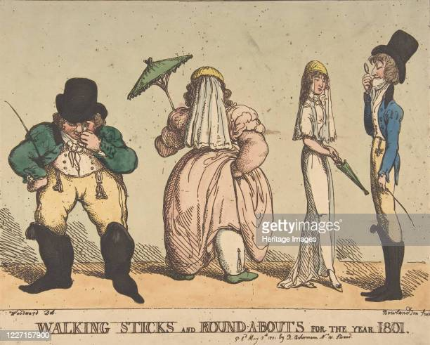 Walking Sticks and RoundABouts for the Year 1801 May 8 1801 Artist Thomas Rowlandson