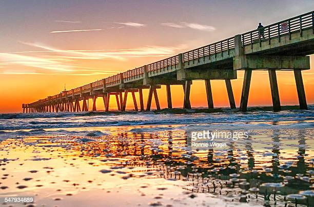 Walking the Jacksonville Beach Pier at Sunrise