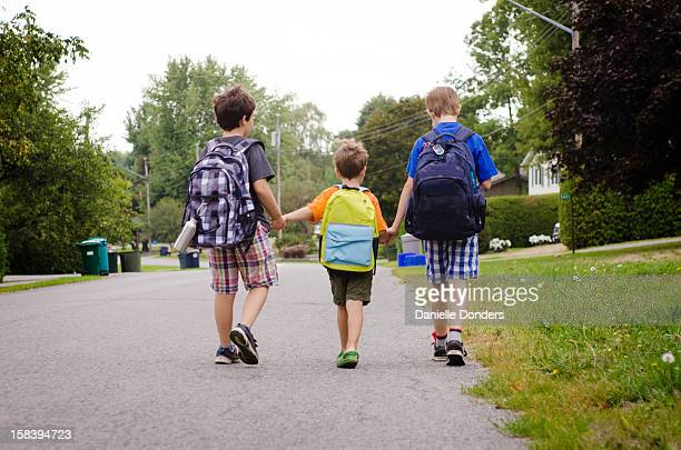 """walking to school - """"danielle donders"""" stock pictures, royalty-free photos & images"""