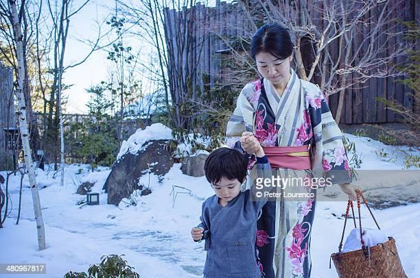 Walking to the Onsen
