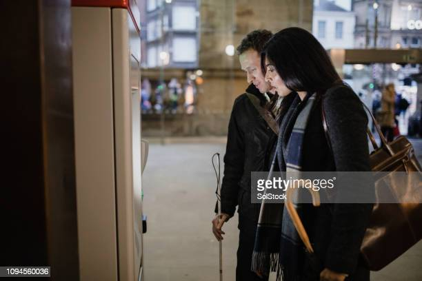 walking to the train station - disability collection stock pictures, royalty-free photos & images