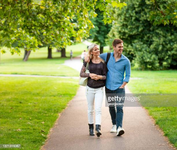 walking together in hampstead, london - camden london stock pictures, royalty-free photos & images