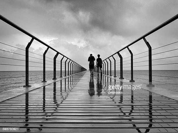 Walking towards infinity