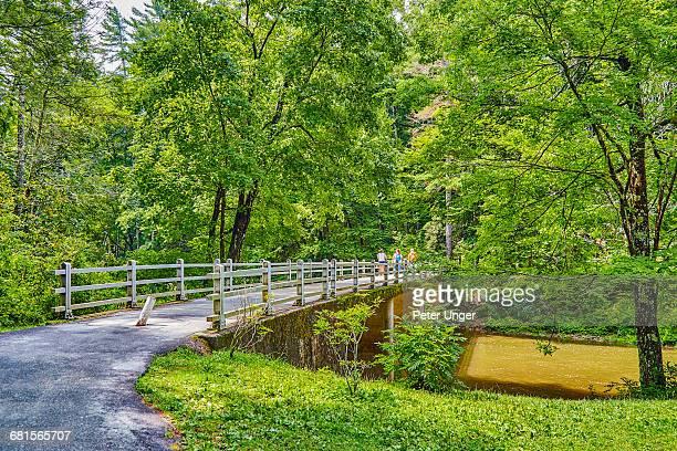 Walking trail bridge,Blue Ridge Parkway