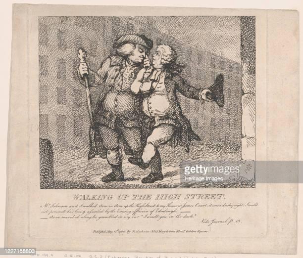Walking Up the High Street Edinburgh May 15 1786 Artist Thomas Rowlandson