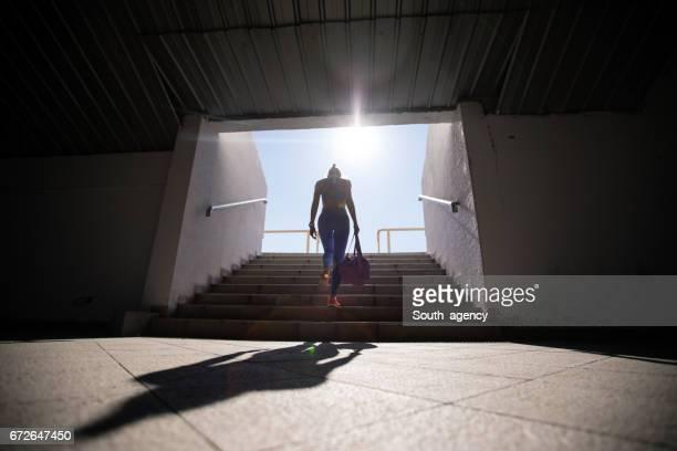 Marche dans les escaliers