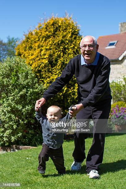 Walking  with granddad