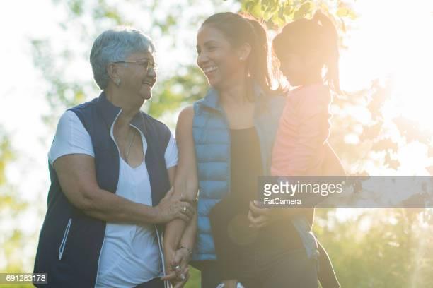 Walking with Mom and Grandma