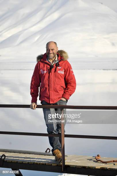 Walking with the Wounded charity cofounder Simon Daglish arrives back at Longyearbyen in the Arctic Norewgian islands of Svalbard after a successful...