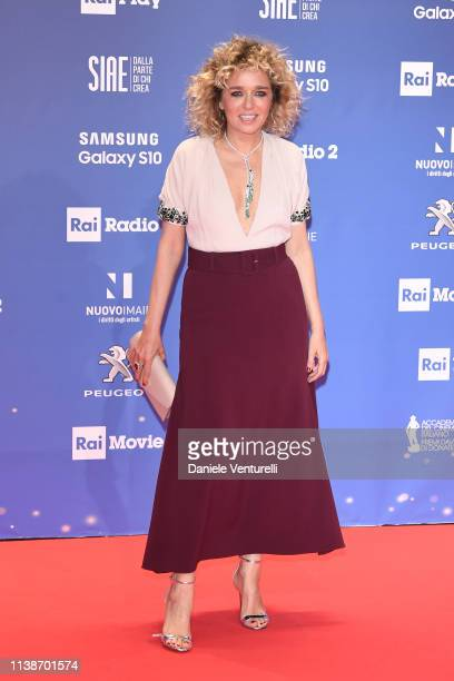 walks a red carpet ahead of the 64 David Di Donatello awards ceremony Red Carpet on March 27 2019 in Rome Italy