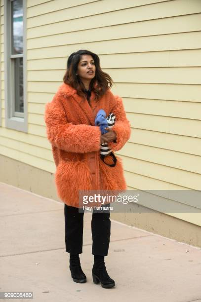 A walks in Park City on January 22 2018 in Park City Utah