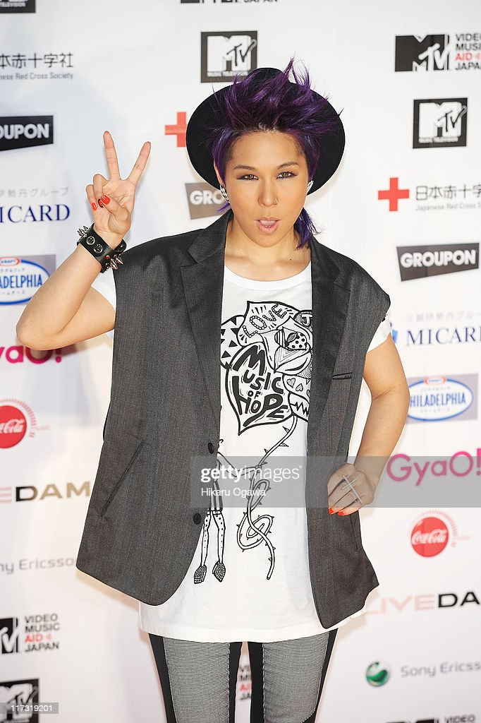 AI walks on the red carpet during the MTV Video Music Aid Japan on June 25, 2011 in Chiba, Japan.