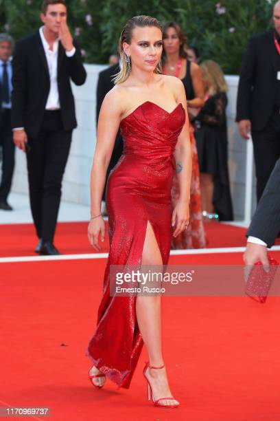 walks the red carpet ahead of the Marriage Story screening during during the 76th Venice Film Festival at Sala Grande on August 29 2019 in Venice...
