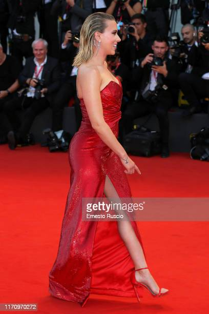 """Walks the red carpet ahead of the """"Marriage Story"""" screening during during the 76th Venice Film Festival at Sala Grande on August 29, 2019 in Venice,..."""
