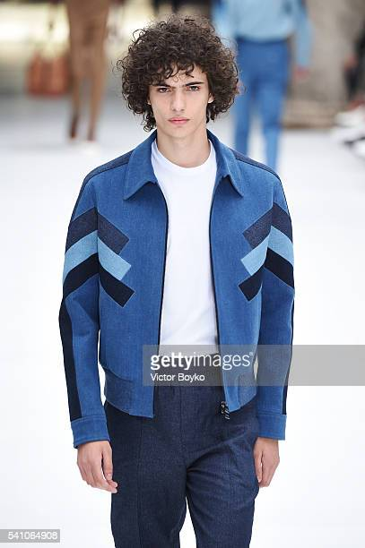 walks the runway at the Neil Barrett show during Milan Men's Fashion Week Spring/Summer 2017 on June 18 2016 in Milan Italy