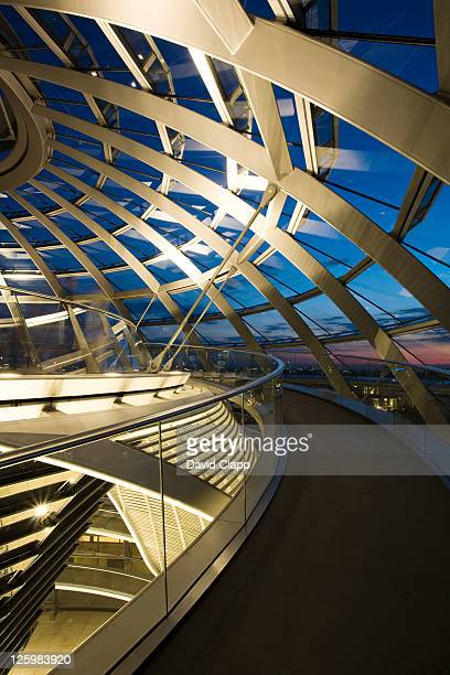Walkway at the top of the Reichstag dome, German Parliament Building, Berlin, Germany