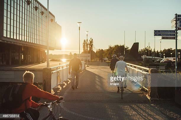 Walkway in city centre in Oulu Finland