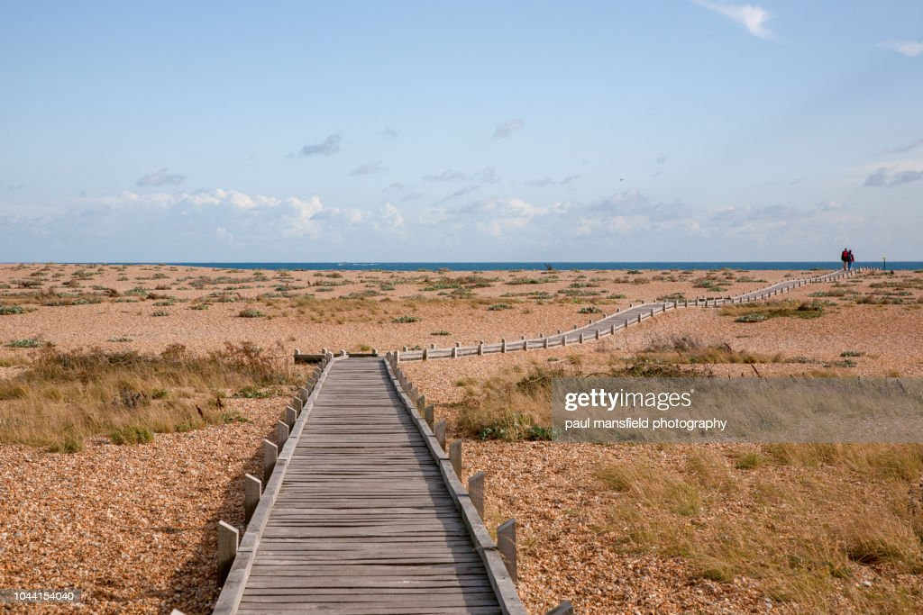 walkway leading to sea : Stock Photo