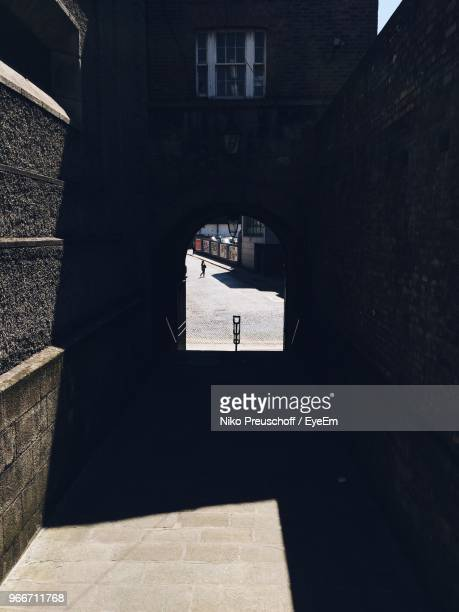 walkway of building - dublin castle dublin stock pictures, royalty-free photos & images