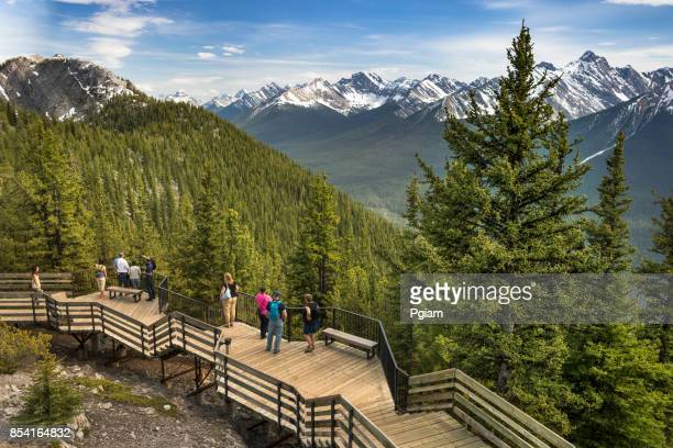 Walkway on the peak of Sulphur Mountain Banff Alberta Canada