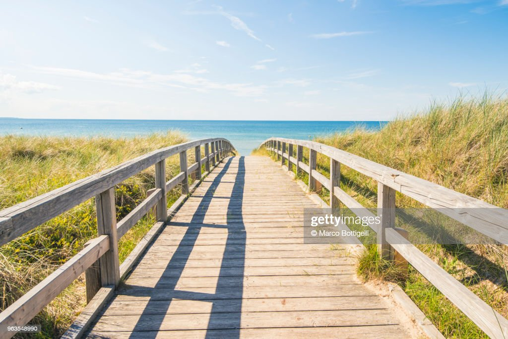Walkway to the Baltic sea, Germany : Stock-Foto