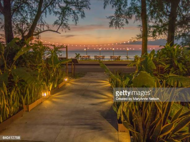 Walkway to the Beach at Sunset