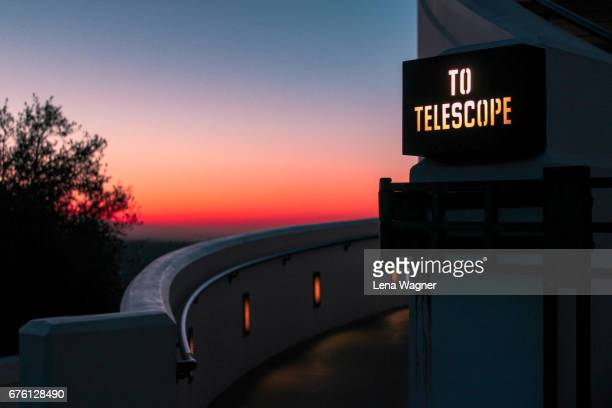 walkway toward sunrise - griffith park stock pictures, royalty-free photos & images