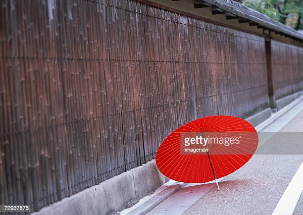 Wall and oilpaper umbrella