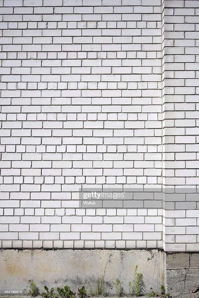 Wall and pavement : Stock Photo