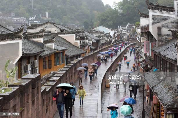 Wall at Fenghuang Ancient Town, Fenghuang, Hunan Province, China