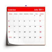 Wall Calendar: July 2011