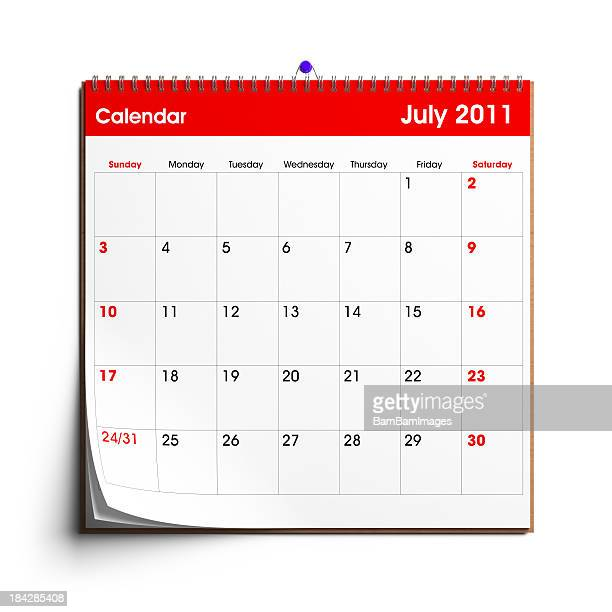 Calendario de pared: Julio de 2011