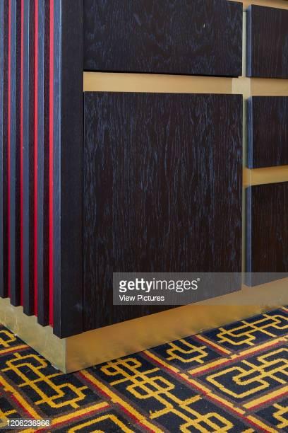 Wall cladding and bespoke carpeting. Royal China Club, London, United Kingdom. Architect: Stiff + Trevillion Architects, 2018.