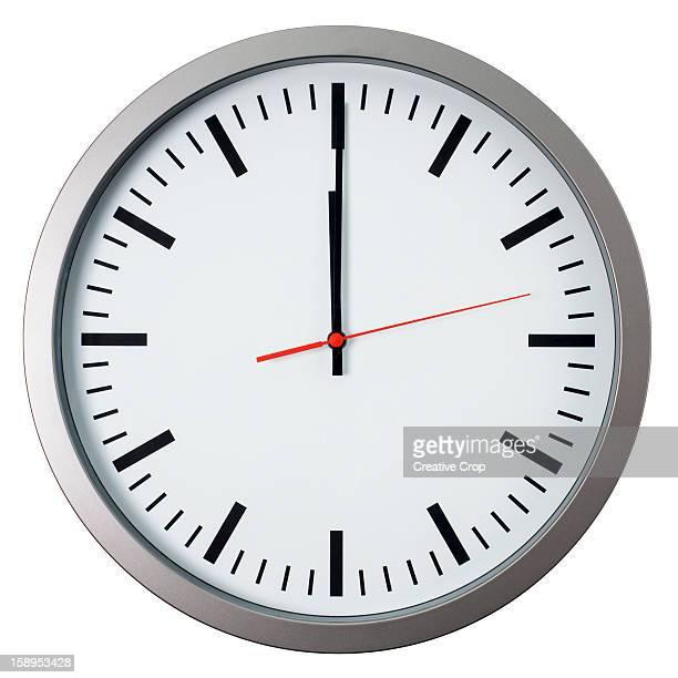 Wall clock showing 12 O'clock