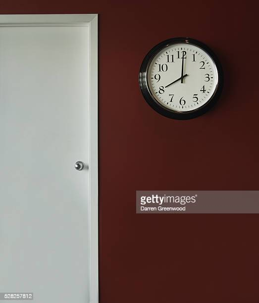 A Wall Clock Showing 8 O'clock