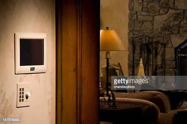 wall control panel for a home - intercom stock pictures, royalty-free photos & images