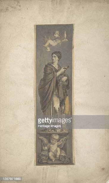 Wall Decoration with Allegorical Figure of Riches 19th century Artist Anon