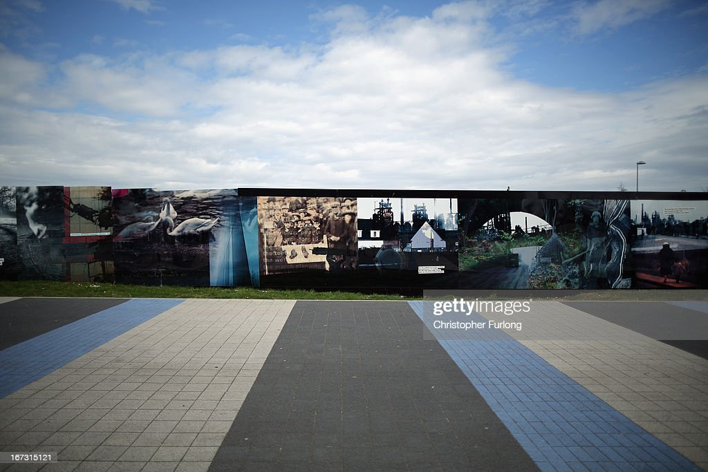 A wall displays imagery in Northamptonshire, the youth unemployment capital of Britain, on April 24, 2013 in Corby, England. A recent study pin pointed Corby as Britain's youth unemployment capital. The study by education specialists Ambitious Minds found that youth unemployment was 11% rising from 4% in 2007. Corby in Northamptonshire was built around its steel industry in the 1930's. The steel works closed in 1980 with the loss of 10,000 jobs.