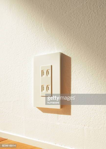 Wall electrical outlet of japan